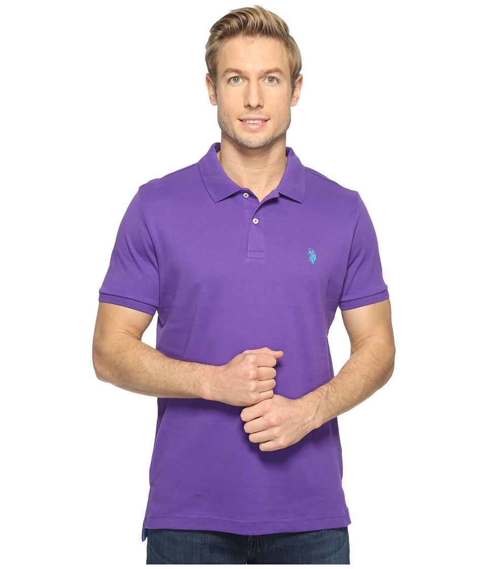 U.S. POLO ASSN. - Solid Interlock Polo (Sea Violet) Men's Short Sleeve Knit