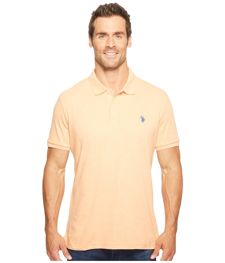 U.S. POLO ASSN. - Solid Interlock Polo (Sunrise Heather) Men's Short Sleeve Knit