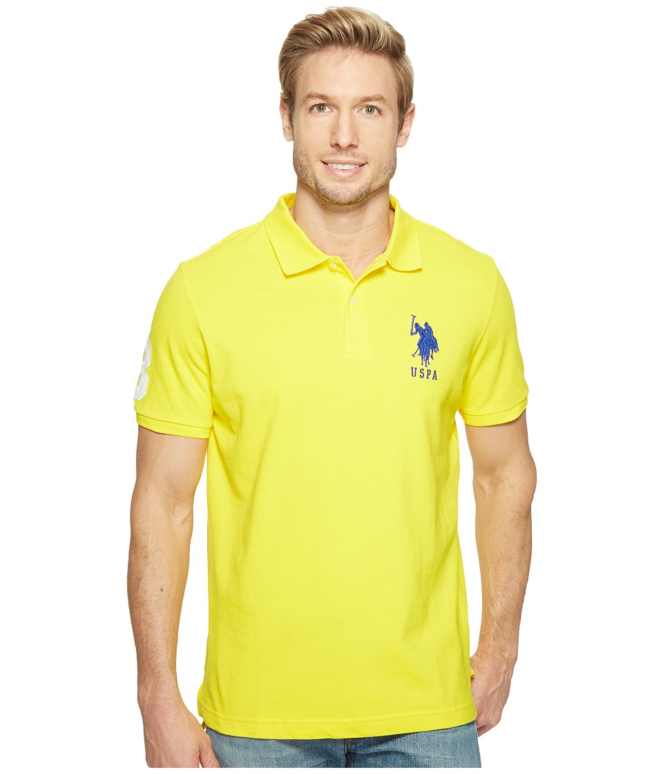 U.S. POLO ASSN. - Solid Pique Polo (Sailing Yellow) Men's Short Sleeve Pullover