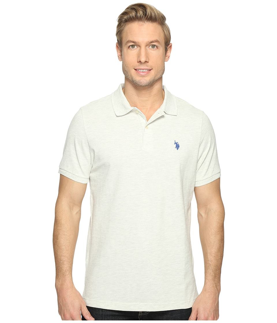 U.S. POLO ASSN. - Solid Cotton Pique Polo with Small Pony (Summer Oatmeal) Men's Short Sleeve Knit