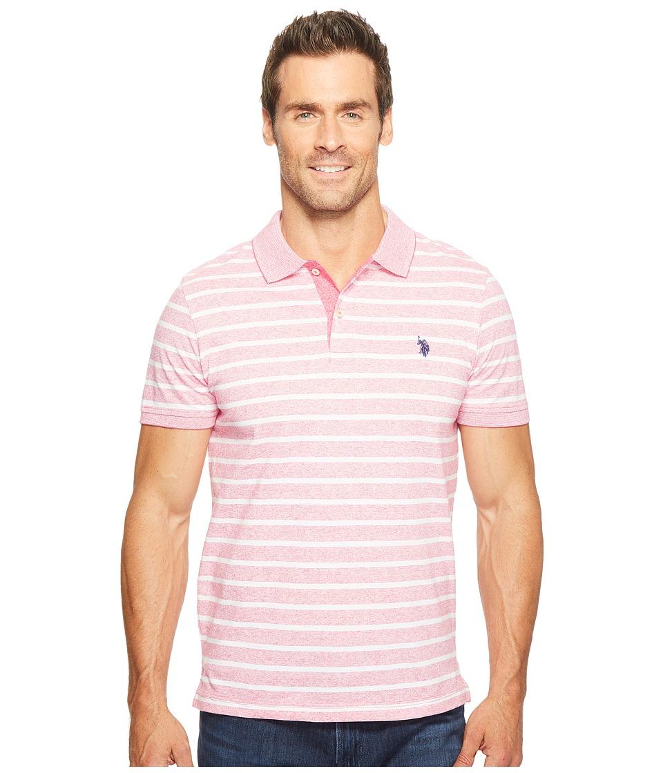 U.S. POLO ASSN. - Slim Fit Solid Short Sleeve Slub Polo Shirt (Fuchsia Flower) Men's T Shirt