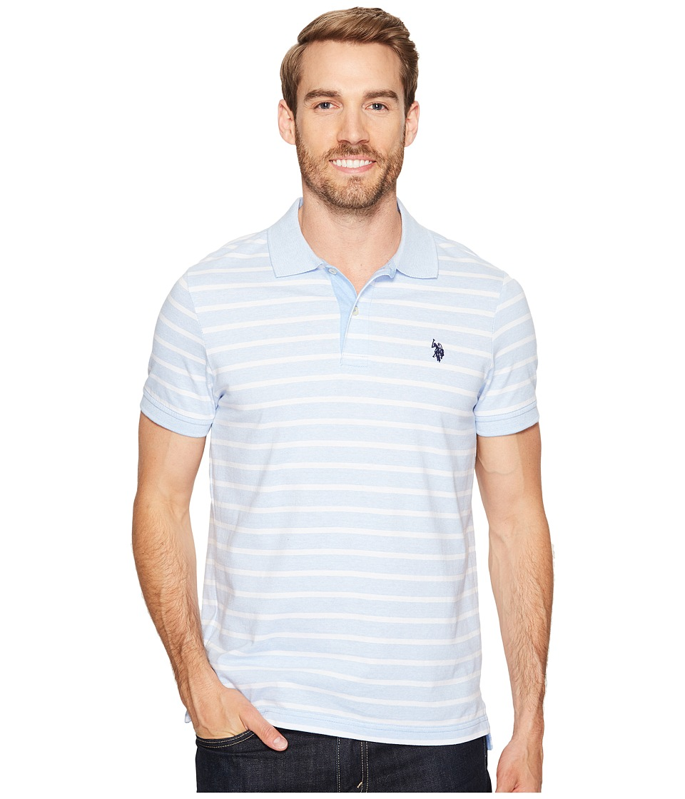 U.S. POLO ASSN. - Slim Fit Solid Short Sleeve Slub Polo Shirt (Artist Blue) Men's T Shirt