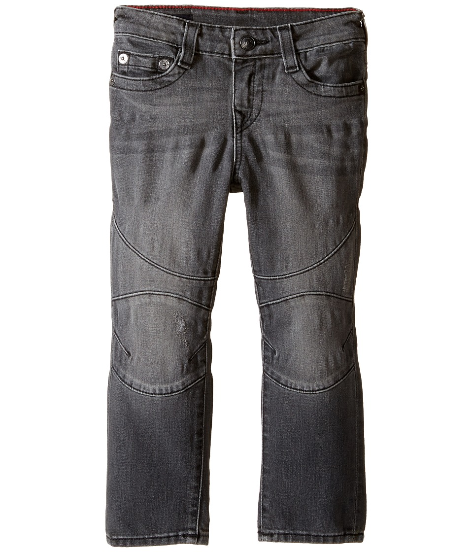 True Religion Kids - Rocco Moto Jeans in Gravel Grey (Toddler/Little Kids) (Gravel Grey) Boy's Jeans