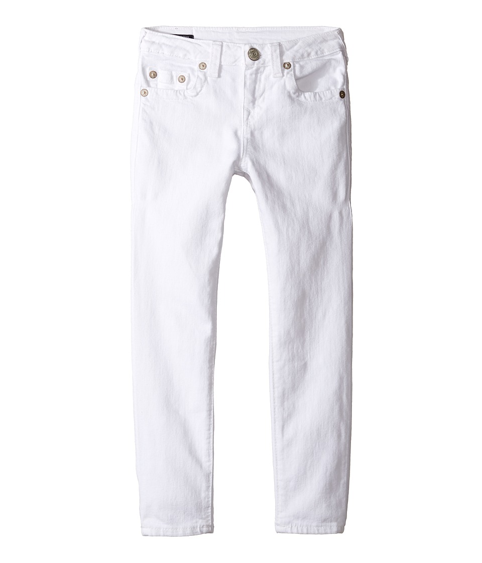 True Religion Kids Casey Ankle Skinny in White (Big Kids) (White) Girl