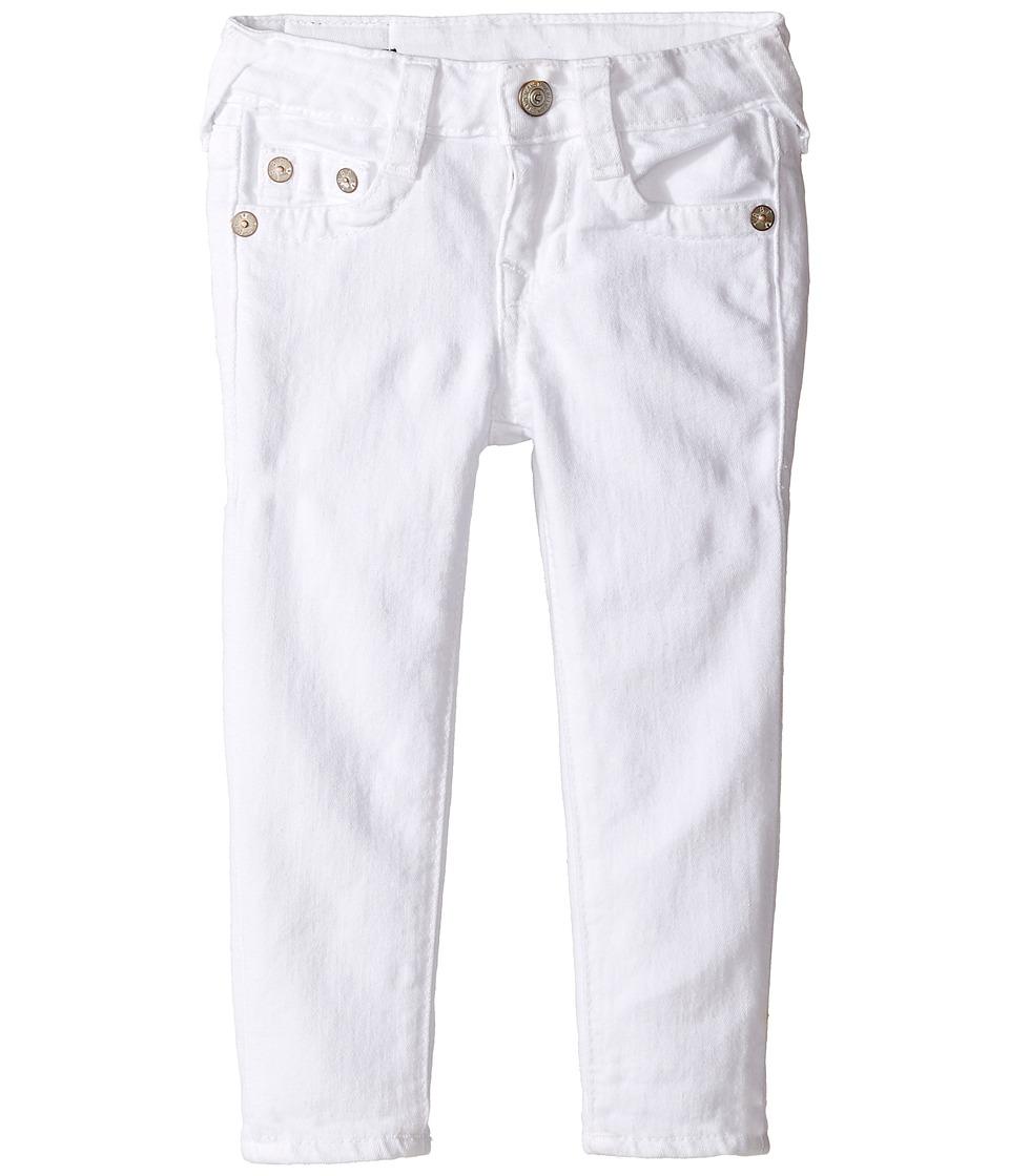 True Religion Kids Casey Ankle Skinny in White (Toddler/Little Kids) (White) Girl
