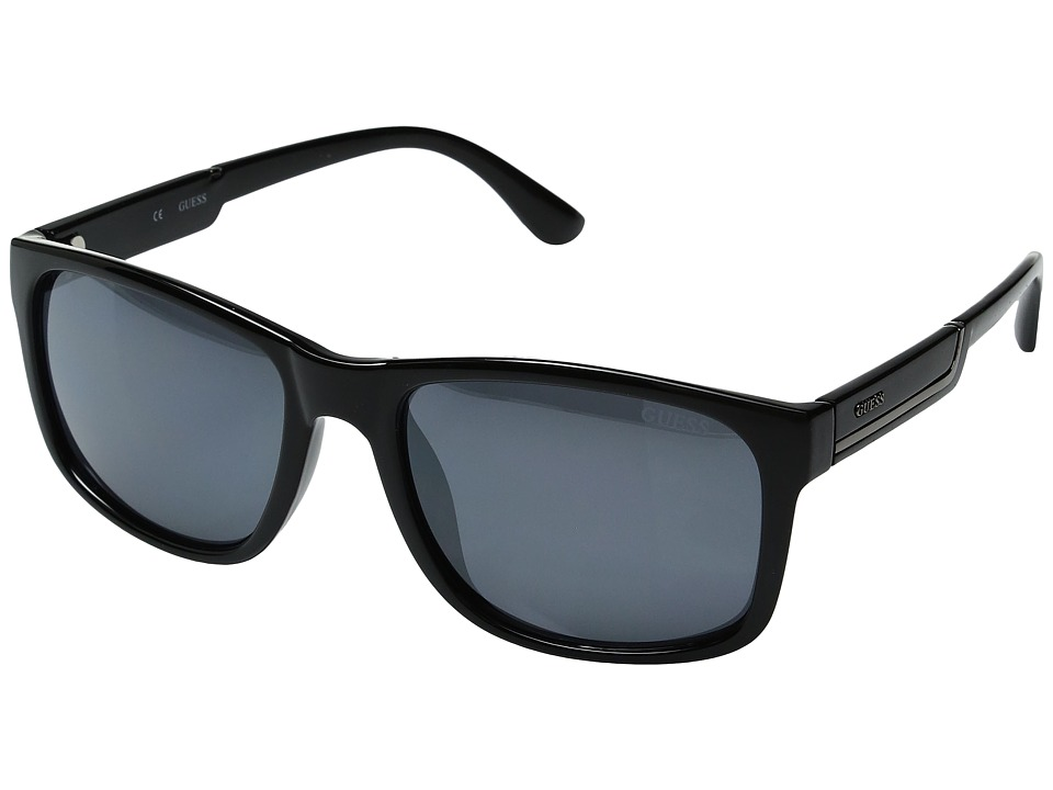 GUESS - GF0135 (Shiny Black/Smoke Mirror) Fashion Sunglasses