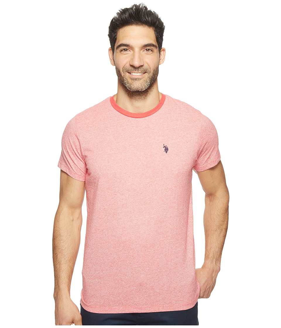 U.S. POLO ASSN. - Short Sleeve Solid Crew Neck Classic Fit T-Shirt (Nantucket Red Heather) Men's T Shirt