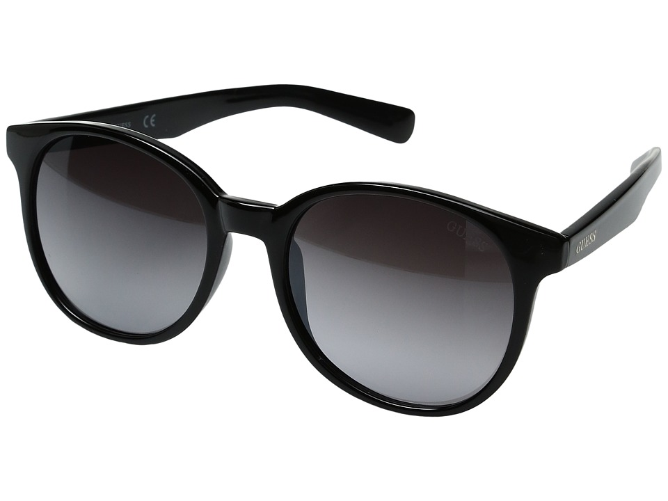 GUESS - GF6000 (Shiny Black/Gradient Smoke) Fashion Sunglasses
