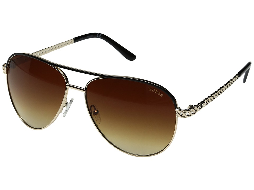 GUESS - GF0268 (Gold/Gradient Brown) Fashion Sunglasses
