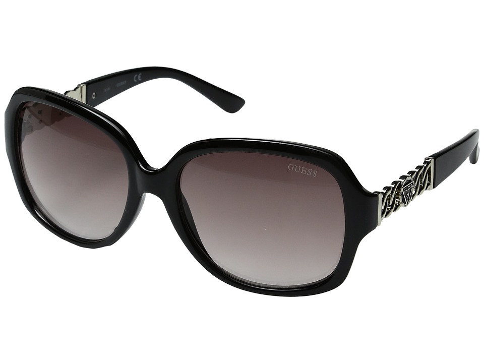 GUESS - GF0291 (Shiny Black/Gradient Smoke) Fashion Sunglasses