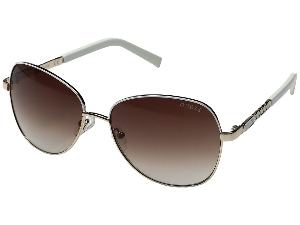 GUESS - GF0256 (Gold/Gradient Brown) Fashion Sunglasses