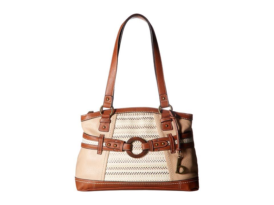 b.o.c. - Nayarit Blanket Stripe Tote (Stone/Straw/Saddle) Tote Handbags