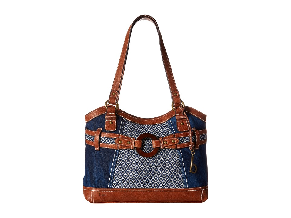 b.o.c. - Nayarit Denim Tribal Tote (Denim/Tribal/Saddle) Tote Handbags