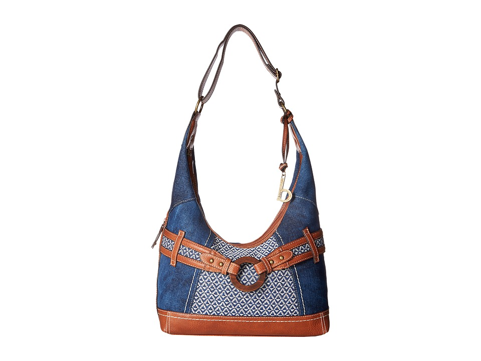 b.o.c. - Nayarit Denim Tribal Hobo (Denim/Tribal/Saddle) Hobo Handbags