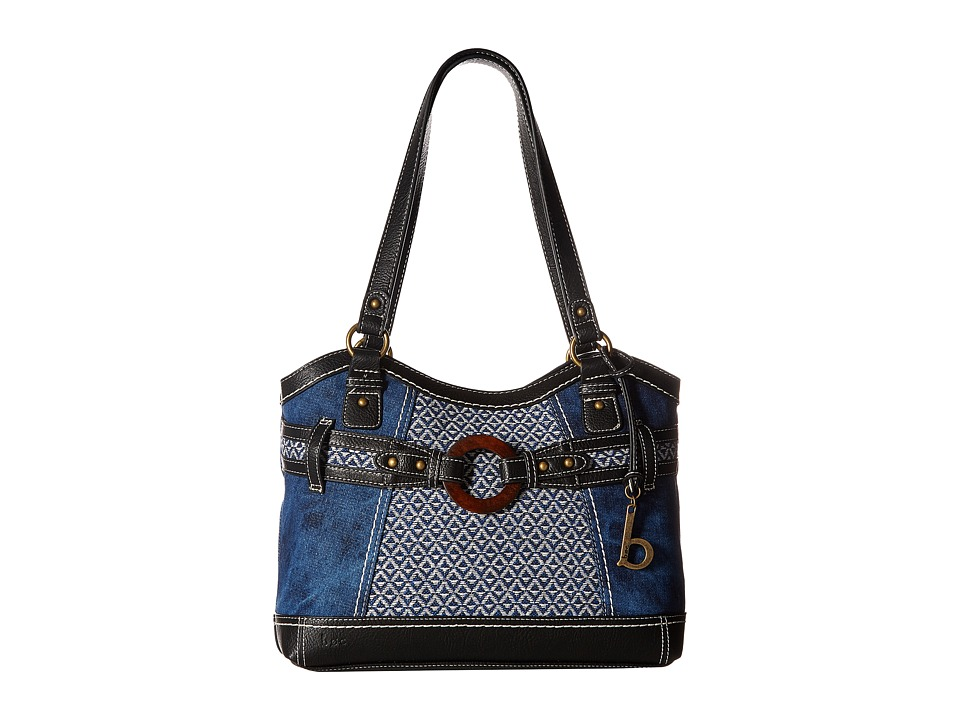 b.o.c. - Nayarit Denim Tribal Tote (Denim/Tribal/Black) Tote Handbags