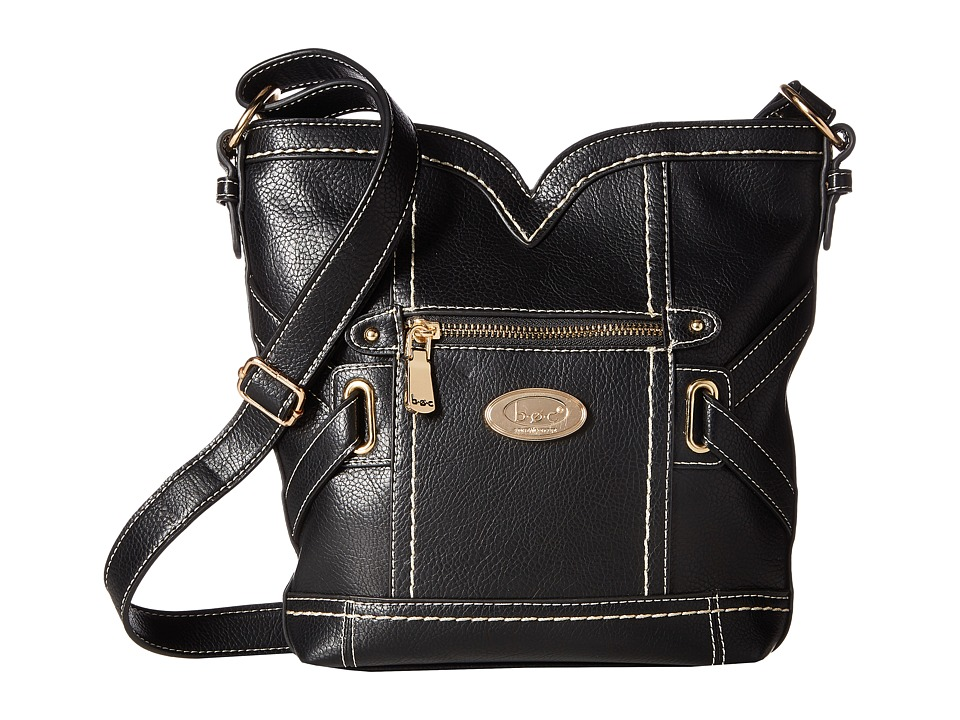 b.o.c. - Parkslope Vinyl Sweetheart Crossbody (Black) Cross Body Handbags