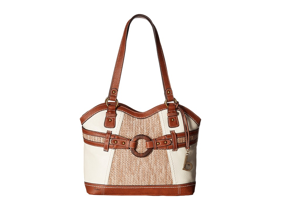 b.o.c. - Nayarit Vinyl/Straw Tote (Bone/Straw/Saddle) Tote Handbags