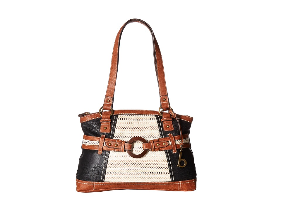 b.o.c. - Nayarit Blanket Stripe Tote (Black/Straw/Saddle) Tote Handbags