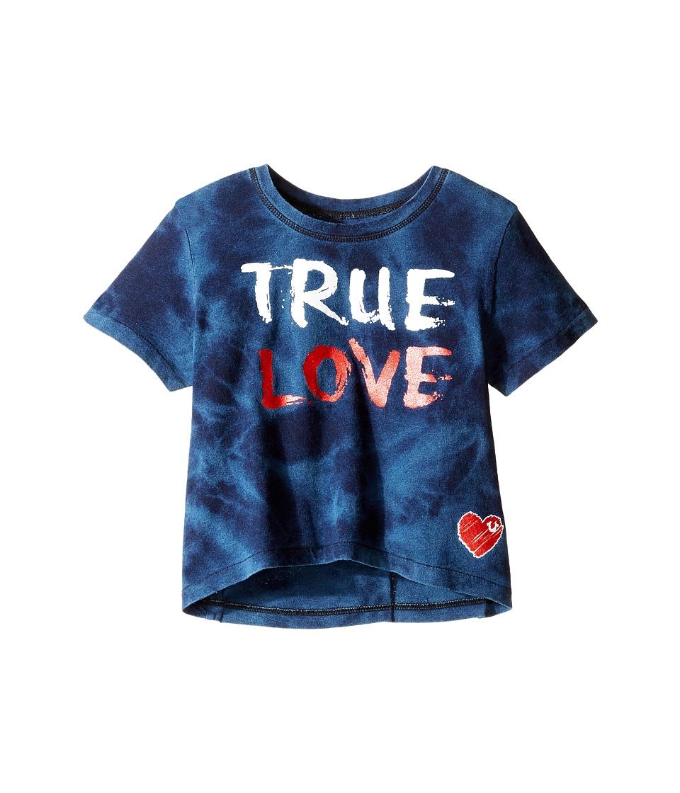 True Religion Kids - True Love Drape Tee (Toddler/Little Kids) (Indigo) Girl's T Shirt