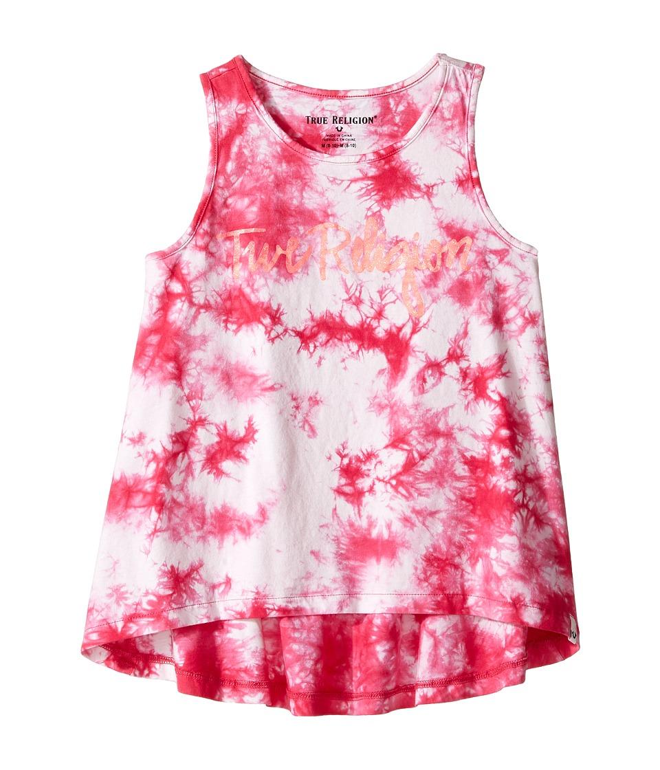 True Religion Kids - Tie-Dye Tank Top (Big Kids) (Fuchsia) Girl's Sleeveless