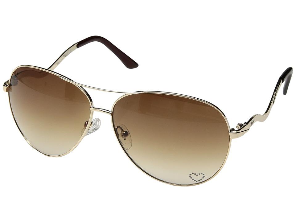 GUESS - GU7021 (Gold/Gradient Brown Lens) Fashion Sunglasses