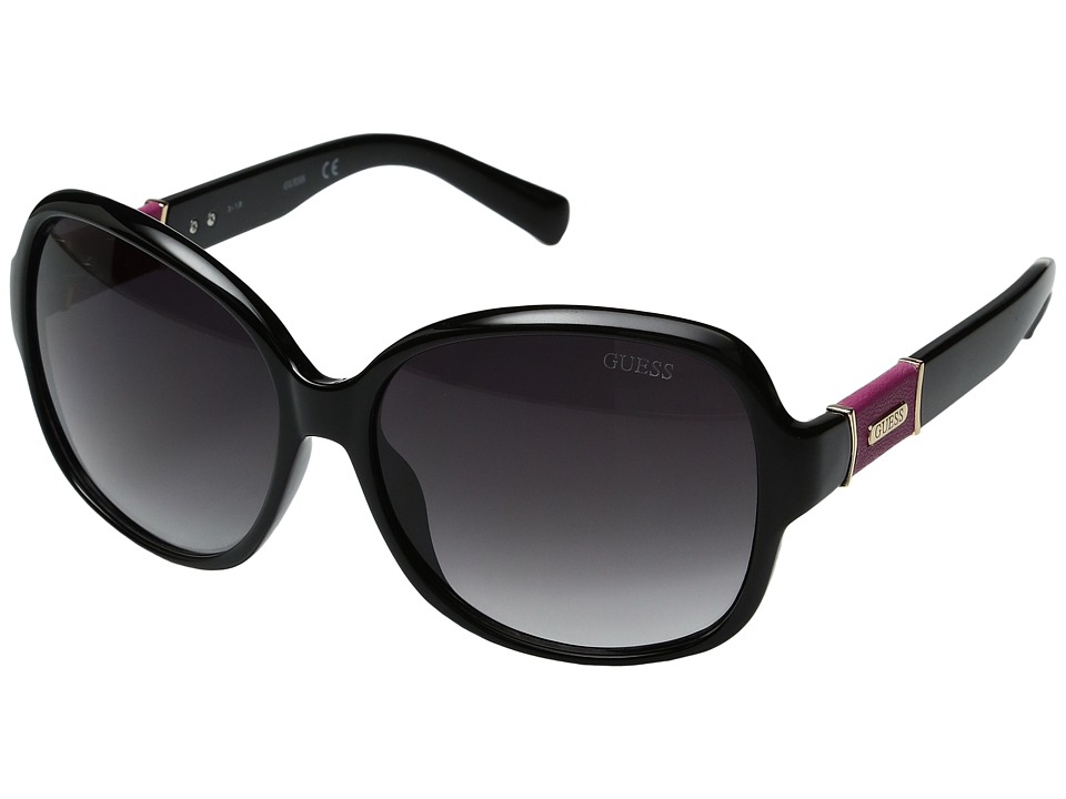 GUESS - GU0237F (Black/Other/Gradient Smoke) Fashion Sunglasses