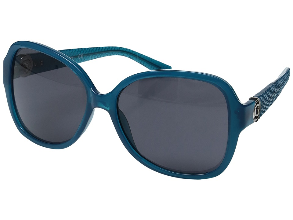 GUESS - GF0275 (Shiny Turquoise/Smoke) Fashion Sunglasses