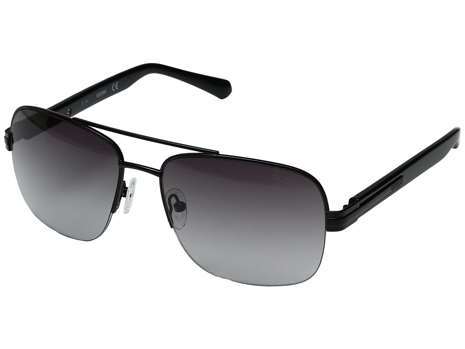 GUESS - GF0144 (Shiny Black/Gradient Smoke) Fashion Sunglasses