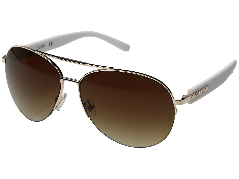 GUESS - GF0160 (Shiny Rose Gold/Gradient Brown) Fashion Sunglasses