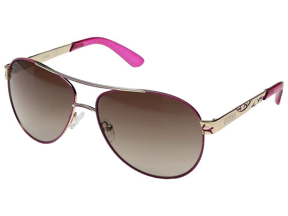 GUESS - GF0282 (Gold/Gradient Brown) Fashion Sunglasses
