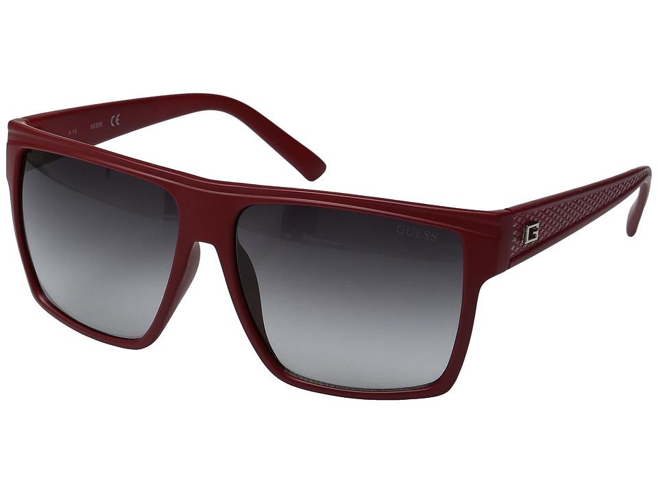 GUESS - GF0158 (Matte Red/Gradient Smoke) Fashion Sunglasses