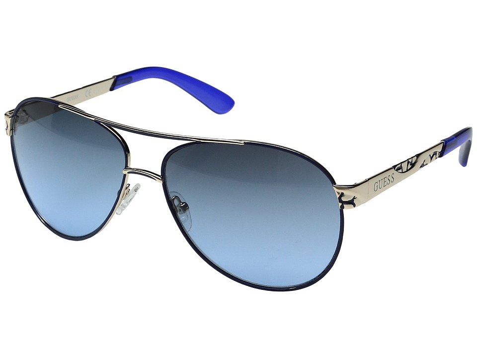 GUESS - GF0282 (Gold/Gradient Blue) Fashion Sunglasses