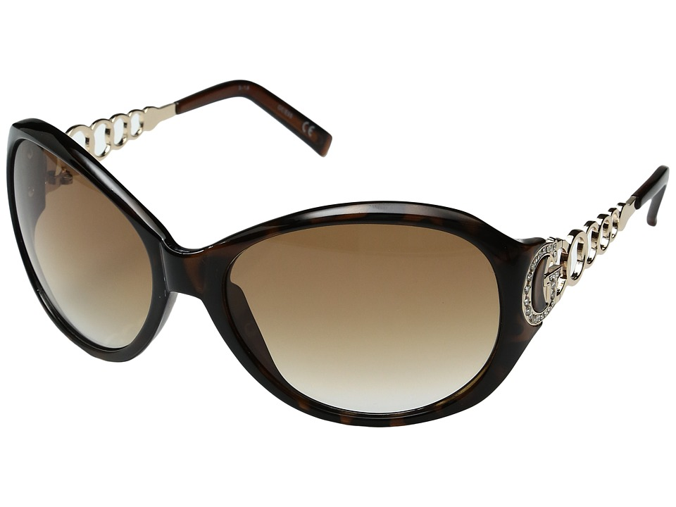 GUESS - GU6510 (Tortoise/Gradient Brown Lens) Fashion Sunglasses