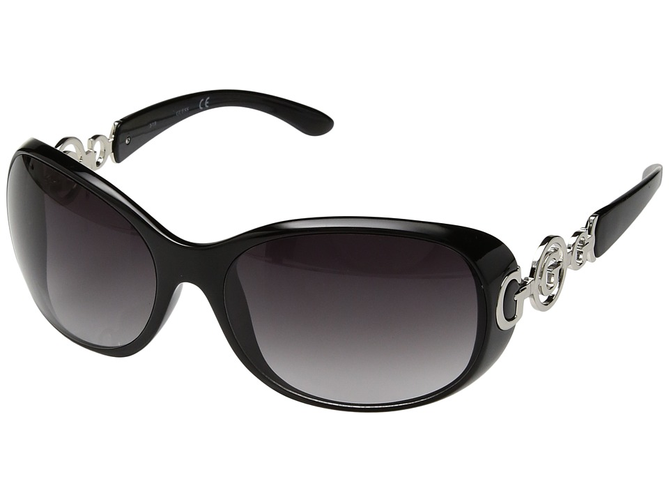 GUESS - GU7022F (Black/Gradient Smoke Lens) Fashion Sunglasses