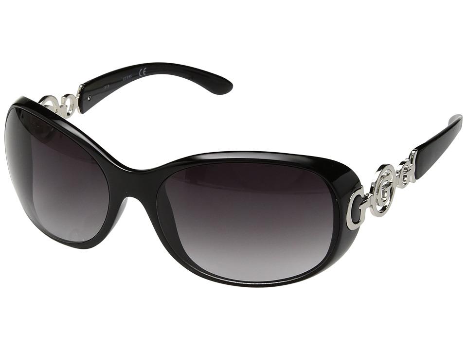 GUESS - GU7022F (Black/Gradient Smoke Lens) Fashion Sunglasses