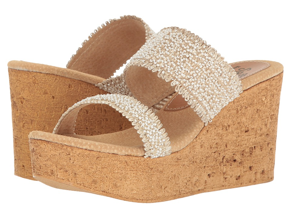 Sbicca - Moreno (Off-White) Women's Wedge Shoes
