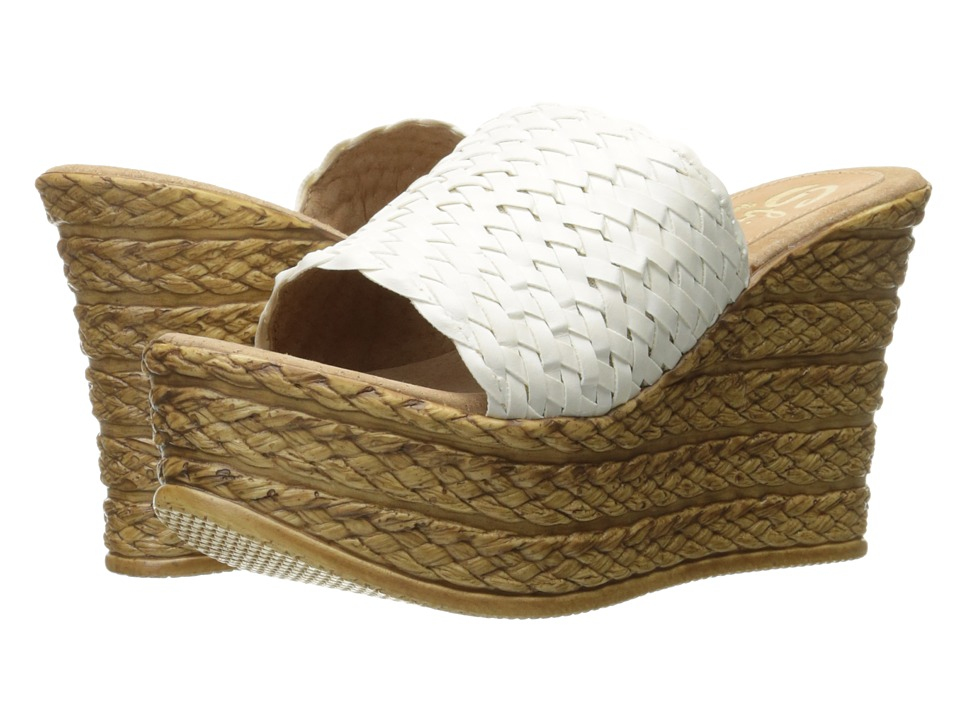 Sbicca - Kersy (White) Women's Wedge Shoes