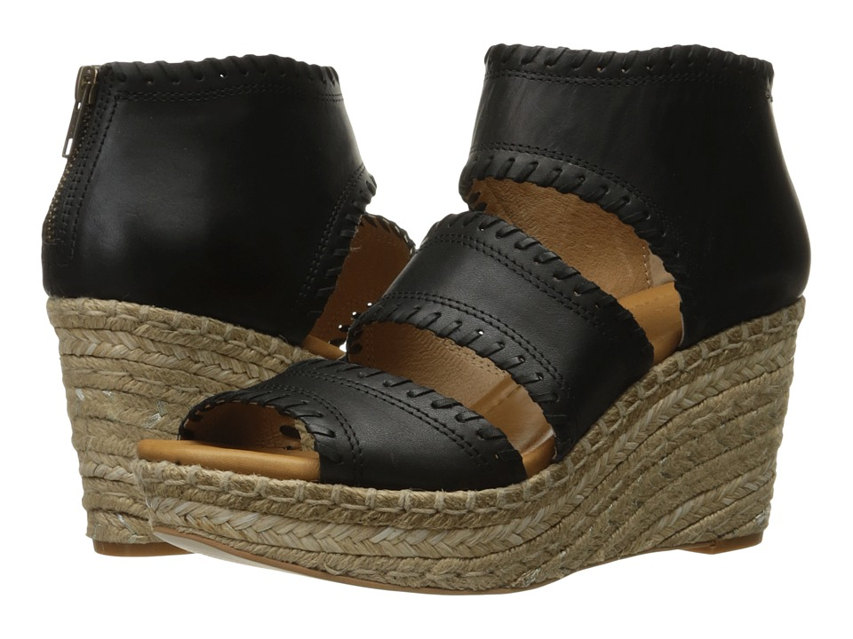 Corso Como - Joyce (Black Brushed Leather) Women's Sandals