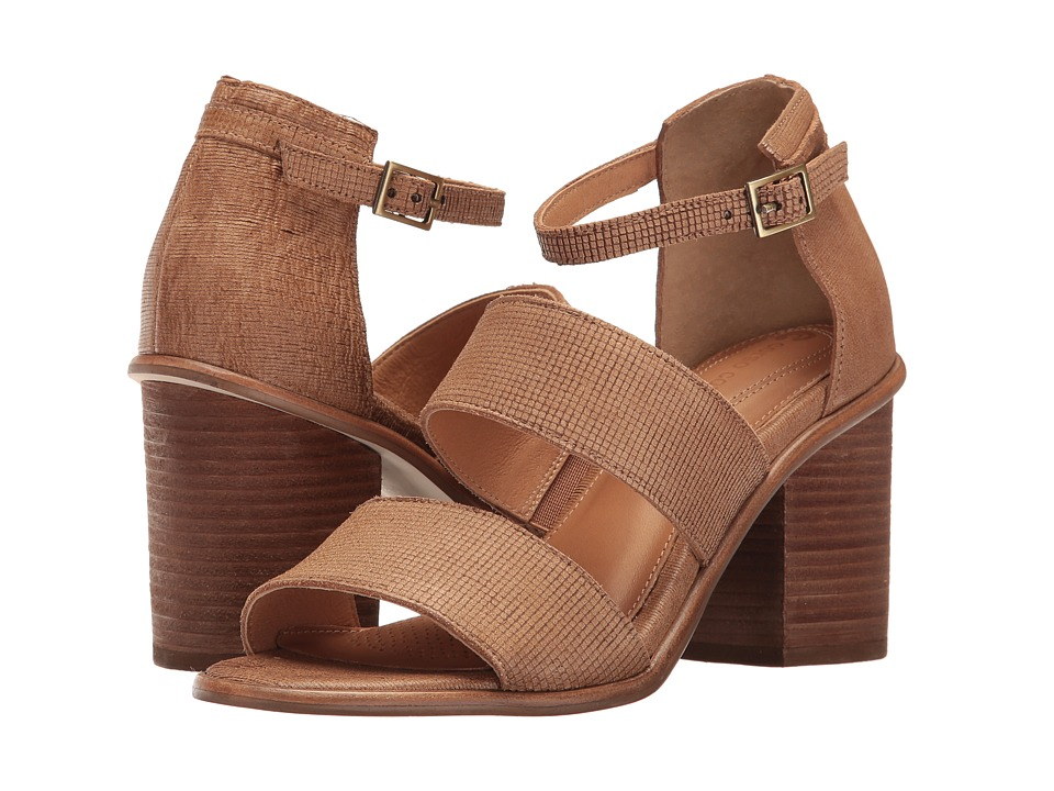 Corso Como - Sus (Camel Square Laser Leather/Camel Stripe Laser Leather) Women's Sandals