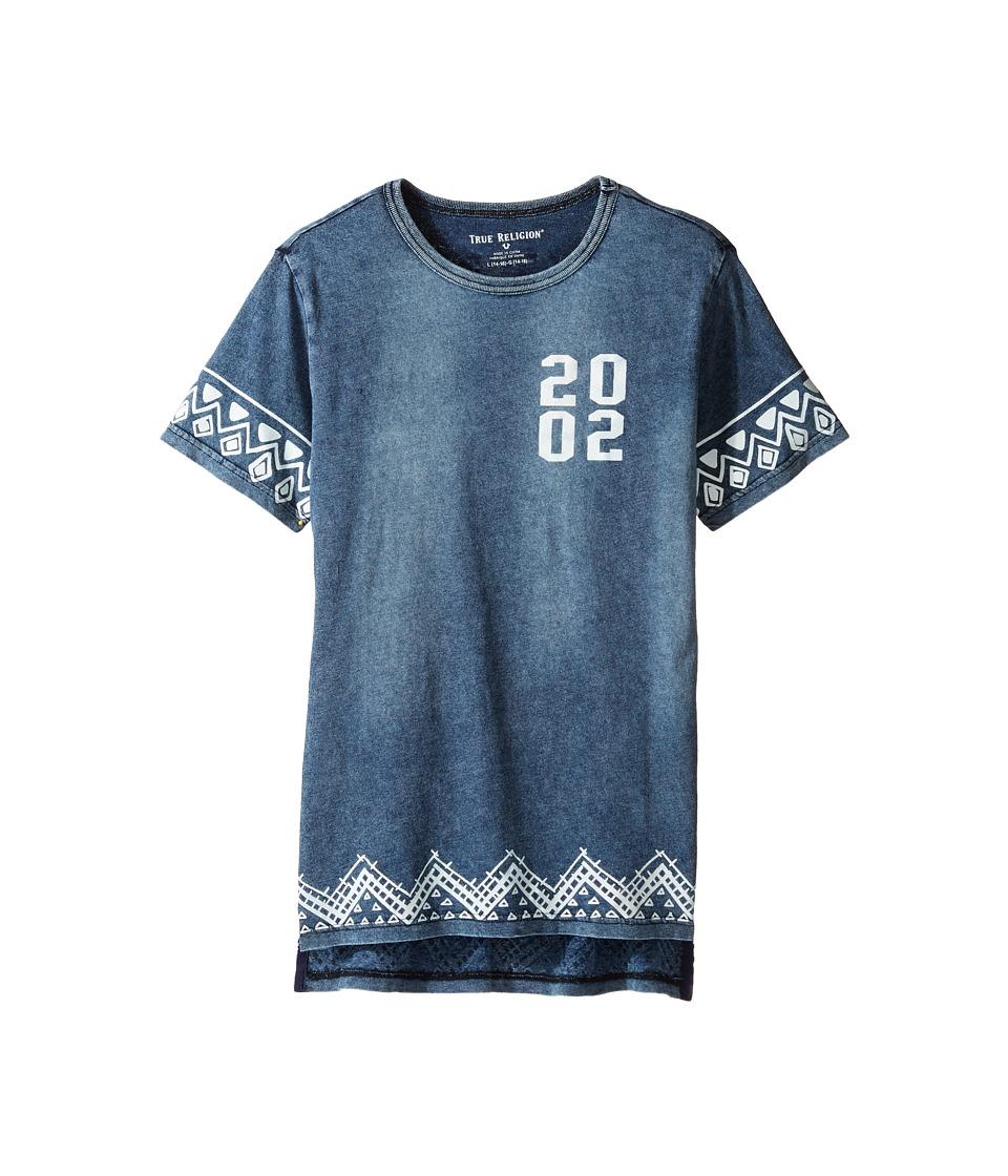 True Religion Kids - Batik Tee (Big Kids) (Indigo) Boy's T Shirt