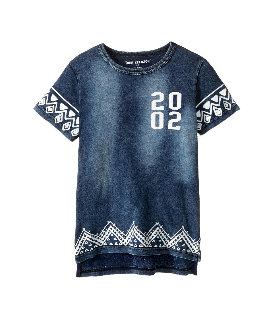 True Religion Kids - Batik Tee (Toddler/Little Kids) (Indigo) Boy's T Shirt