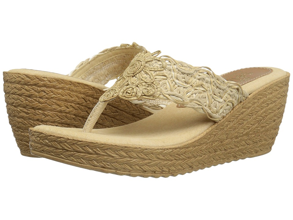 Sbicca - Porto (Natural) Women's Wedge Shoes