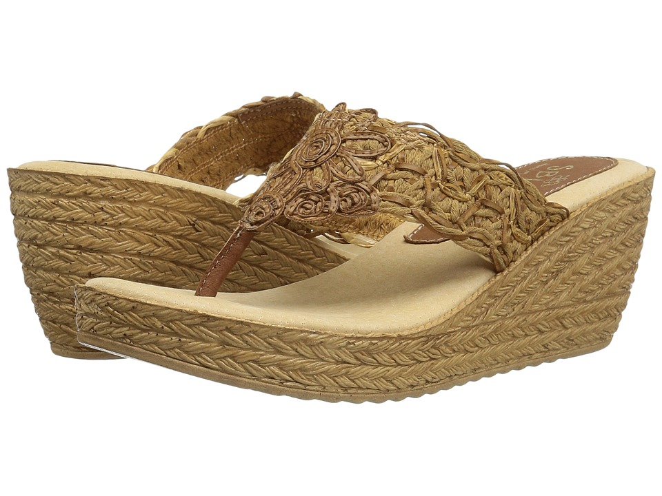 Sbicca - Porto (Tan) Women's Wedge Shoes