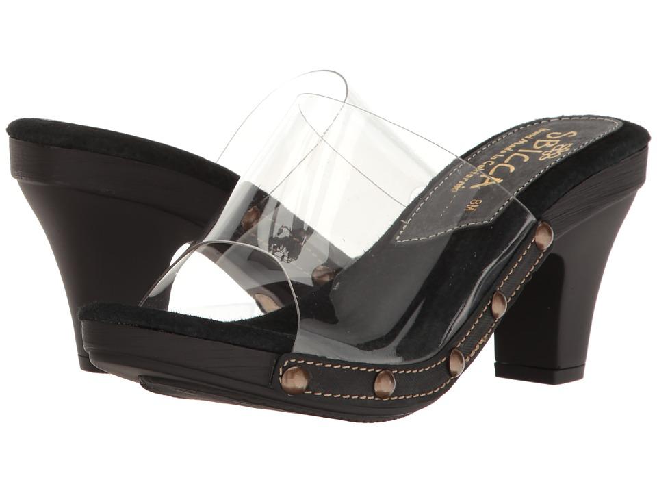 Sbicca - Zina Clear (Black) Women's Sandals