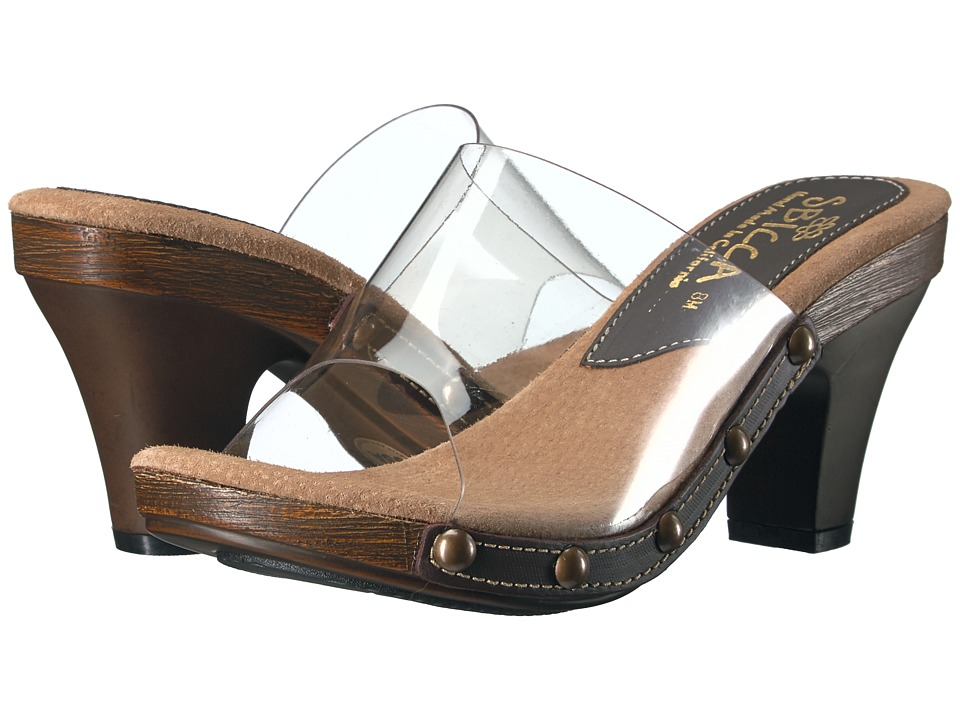 Sbicca - Zina Clear (Brown) Women's Sandals