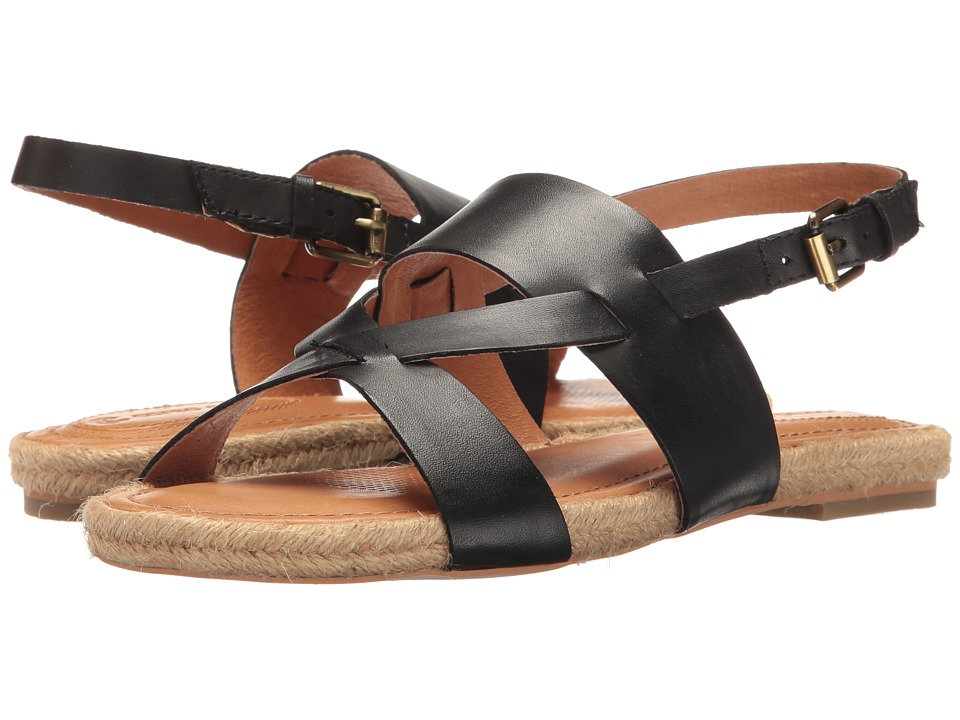Corso Como - Pine Key (Black Brushed Leather) Women's Sandals