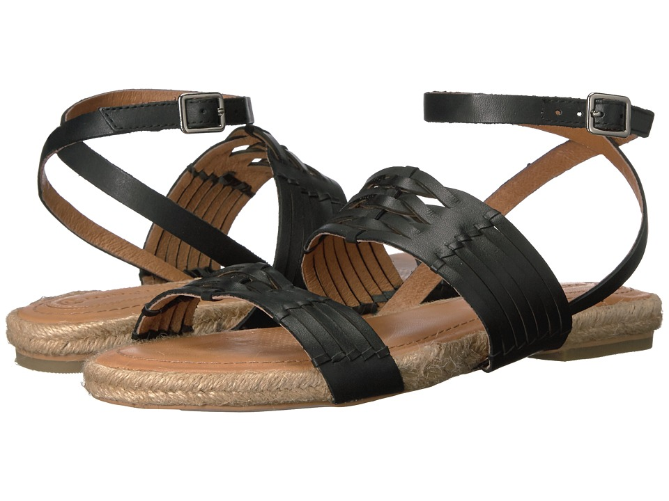 Corso Como - Pennisula (Black Brushed Leather) Women's Sandals