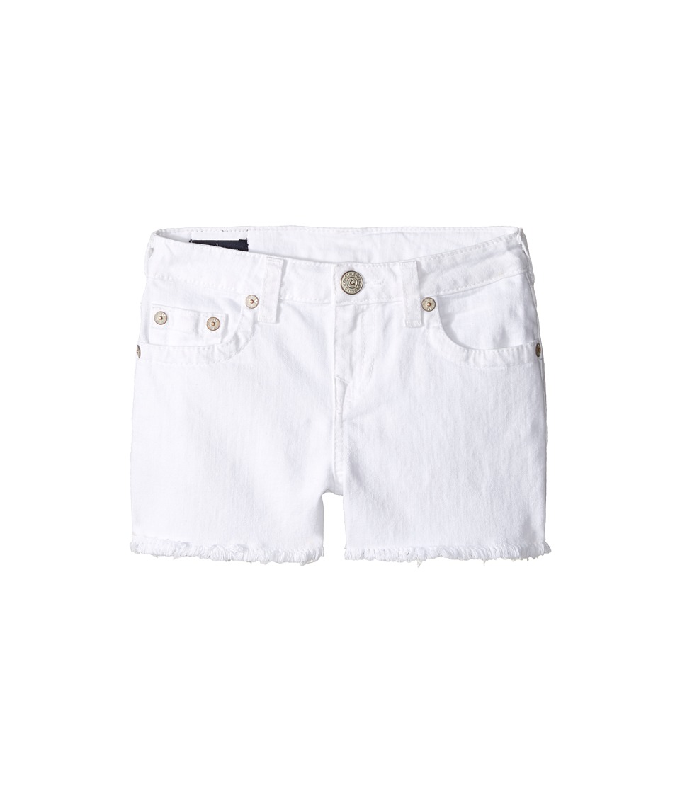 True Religion Kids - Joey Shorts in White (Big Kids) (White) Girl's Shorts