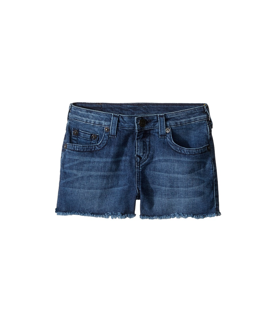 True Religion Kids - Joey Raw Edge Shorts in Shabori (Big Kids) (Shabori) Girl's Shorts