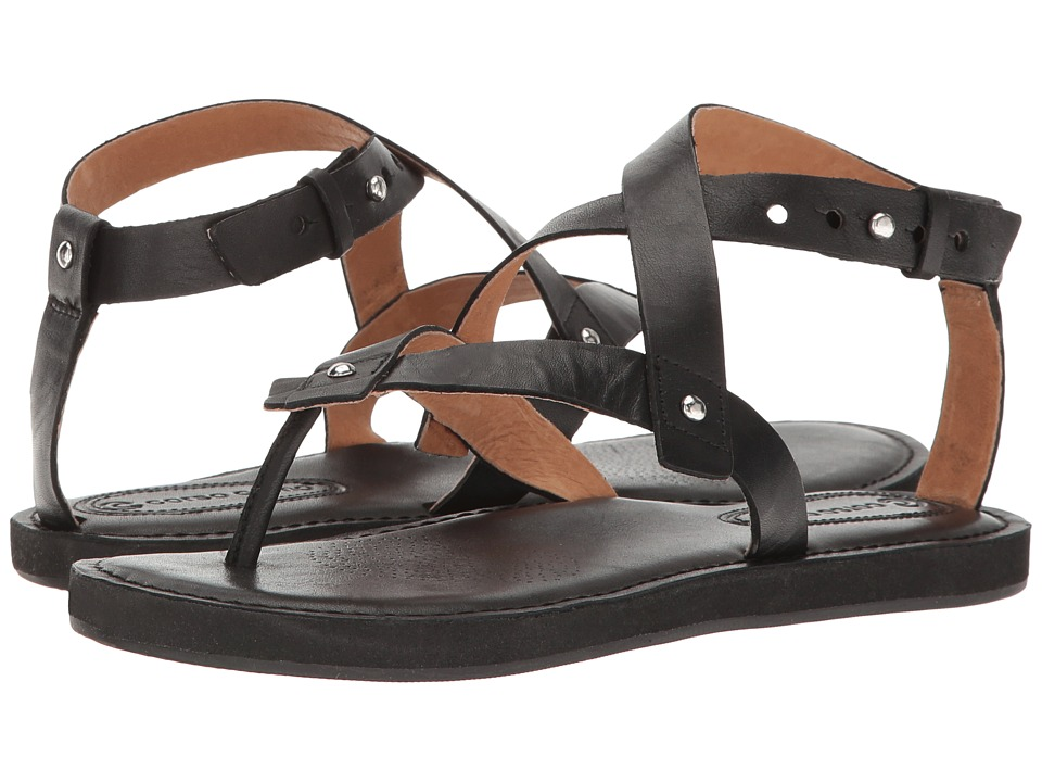 Corso Como - Spa (Black Brushed Leather) Women's Sandals